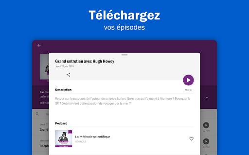 Radio France - podcasts, direct radios 6.5.2 screenshots 9