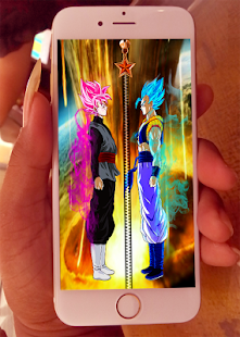 Goku Black Gogeta Zipper Screen Lock for PC-Windows 7,8,10 and Mac apk screenshot 1