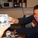 drinking Asahi beers at Gaku in Gora, Hakone in Hakone, Kanagawa, Japan