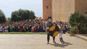 Recreación medieval celebrada en el conjunto recientemente.