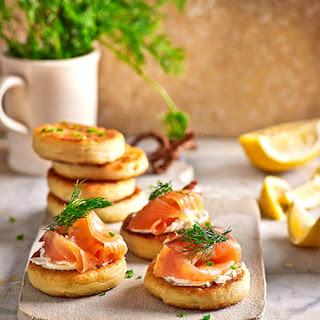 Potato and Salmon Appetizer.
