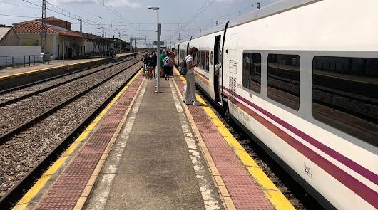 Dos horas esperando un autobús que les permita seguir el viaje por tren a Madrid