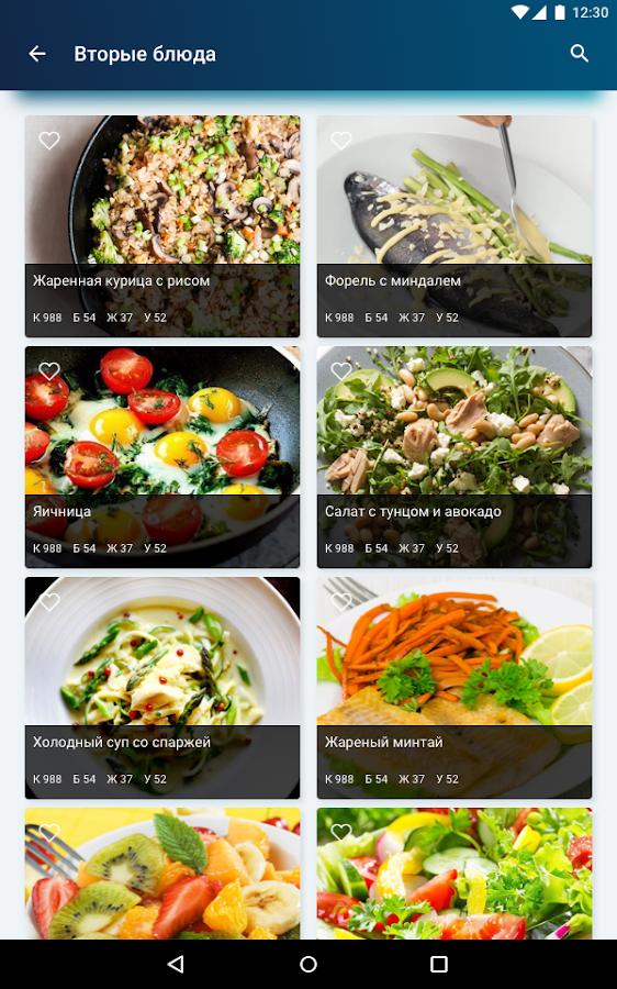 дневник правильного питания на каждый день