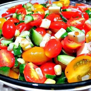 Tomato Mozzarella Cucumber Basil Salad Recipes