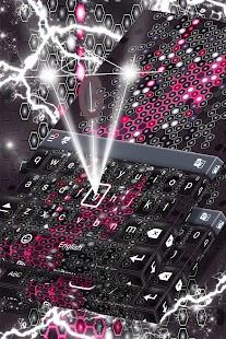 Černá neonová klávesnice - náhled