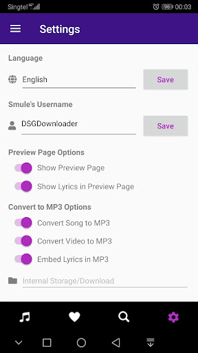DSG Downloader for Smule 1.3.1 screenshots 1
