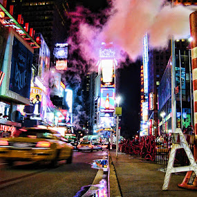 Vibes of NYC by Thilo Bayer - City,  Street & Park  Street Scenes ( night, new york )
