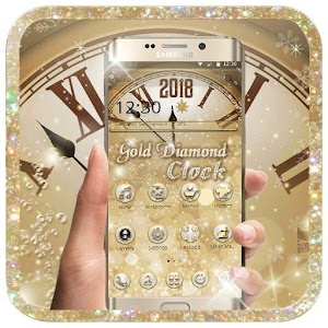 Gold Diamond Deluxe Clock 2018 for PC