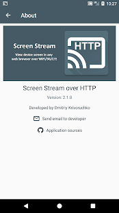Screen Stream over HTTP Screenshot