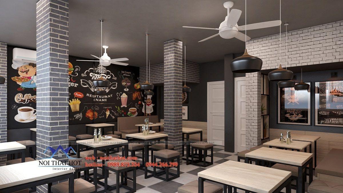thiết kế quán ăn nhanh hiện đại