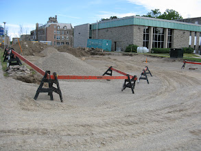 Photo: New upper parking lot under construction May 31, 2012