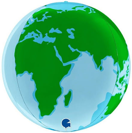 Folieballong Globe - earth, 38 cm