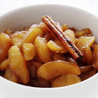 Brandy-Stewed Apples.
