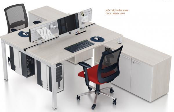 Cụm bàn làm việc MN2C1407 dành cho 2 người ngồi