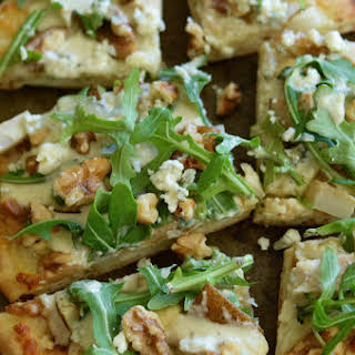 Pear, Blue Cheese and Walnut Flatbread.