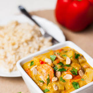 Massaman Vegetable Curry With Tofu.