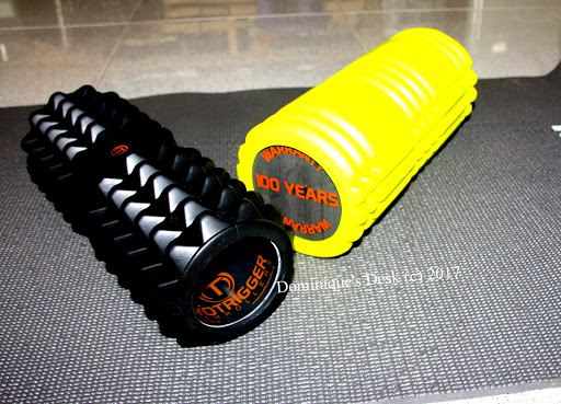The Centeranium (Yellow) and Fascinator (black) Foam rollers by Primero