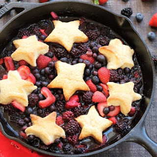 Skillet Berry Cobbler with Lemony Biscuit Topping Recipe