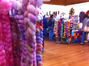 Photo: Color color color! (Photo taken from TheStashAddict over towards the Easyknits stand)
