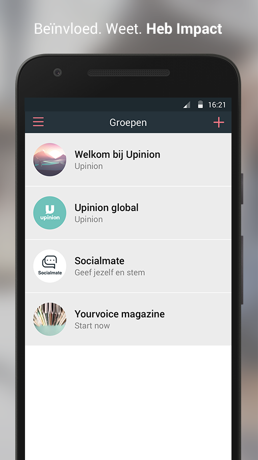 Upinion: screenshot