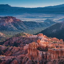 Bryce Canyon by Phyllis Plotkin - Landscapes Caves & Formations ( moutnains, utah, formations, canyon, hoodoos, sunrise, bryce canyon )