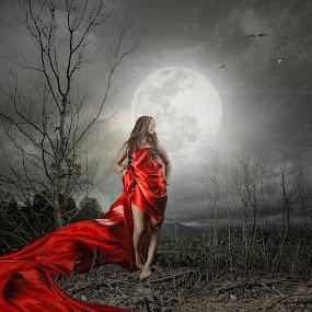 Red Hot Moon by Vantodes . - Digital Art Things