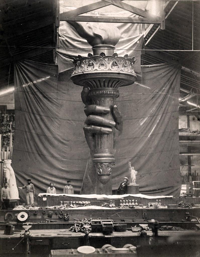 Emmanuel Flamant, Statue de la liberté, main et flamme