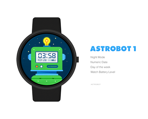 Astrobot 1 watchface by Astrob