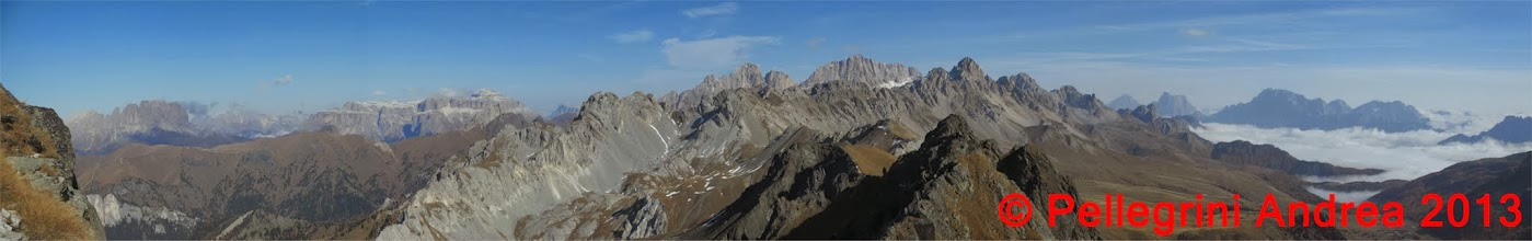 Photo: Panorama 11 Dal Catinaccio al Civetta dalla Cresta dei Monzoni