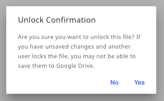Screenshot of the Unlock Confirmation window.