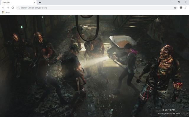 Resident Evil 2 New Tab Theme