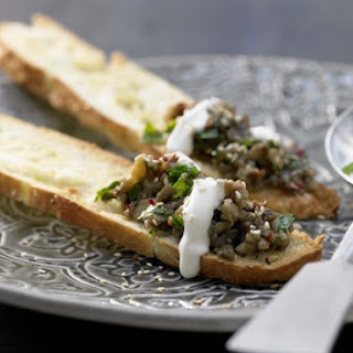 Roasted-Eggplant Spread on Flatbreads