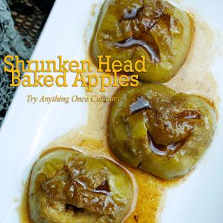 Baked Apple Shrunken Heads