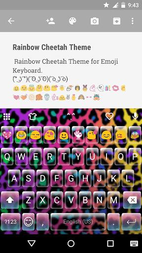 Rainbow Cheetah Emoji keyboard