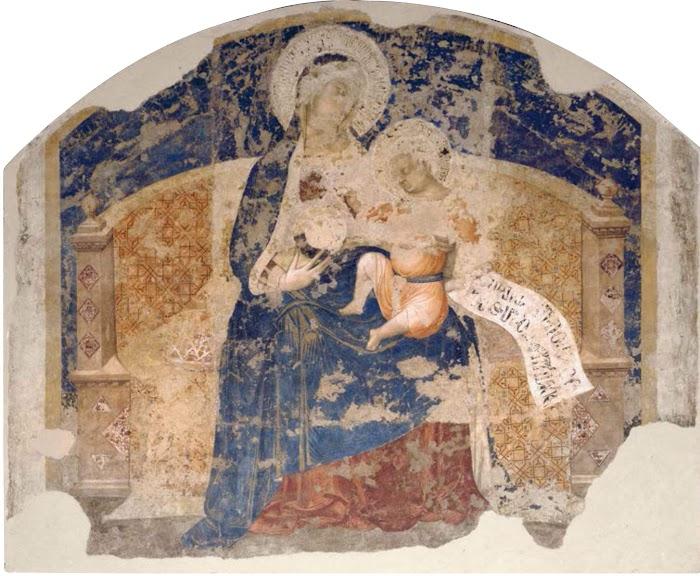 Ambrogio Lorenzetti, Madonna col Bambino (Maestà della Loggia del Palazzo Pubblico di Siena, 1340