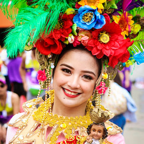 Festival Queen by Ryan Lemil Escarpe - People Portraits of Women ( fashion, sinulog, street, cebu, cebu photographers, festival, women, religious, flower )