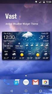 Free Weather Widget Android - náhled
