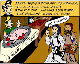 "Photo: The apostles still didn't realize the Law was abolished! They wouldn't even eat pork. ""No thanks!"""