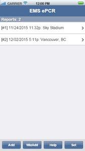 EMS ePCR screenshot 0
