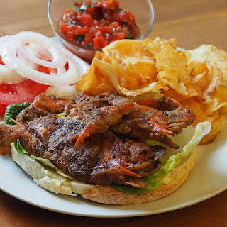Butter-Sautéed Soft-Shell Crab Sandwiches With Tomato Salsa.