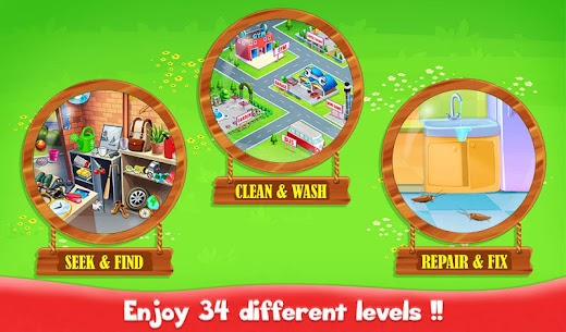 Big Home Cleanup and Wash : House Cleaning Game 1