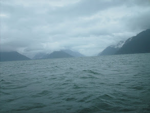 Photo: Looking north up Taiya Inlet towards Skagway Alaska.