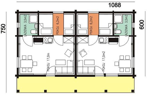 BR-126 - Rzut parteru