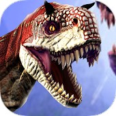 T-Rex Dinosaur City Hunter: Rocket Launcher Game