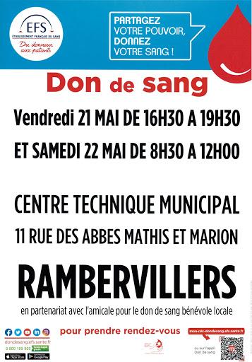 Don du sang - Rambervillers
