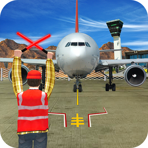 Airplane Pilot Parking Duty : Airplane Marshaling