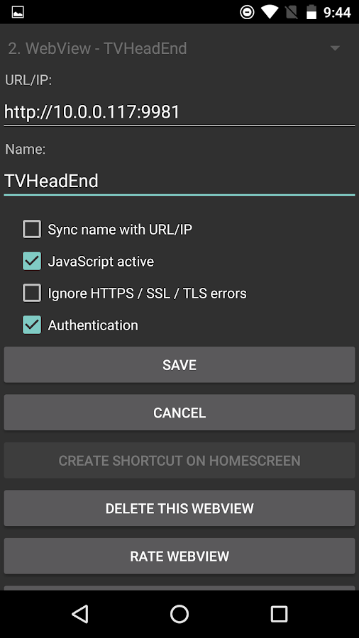 Linkify android webview https