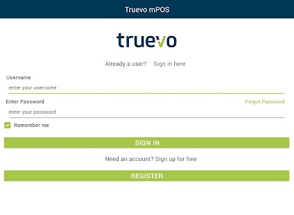 Truevo mPOS- screenshot thumbnail