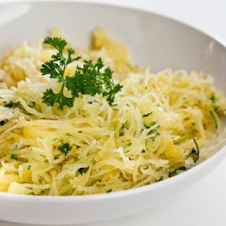 Baked Spaghetti Squash with Garlic and Butter Recipe
