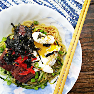 Cold Ramen Noodles With Grilled Unagi.